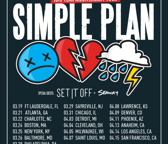 Simple Plan Announce No Pads, No Helmets, Just Balls… 15 Year Anniversary Tour