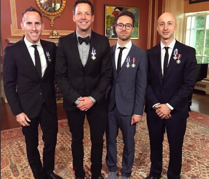 Simple Plan Receive the Meritorious Service Cross from The Governor General of Canada